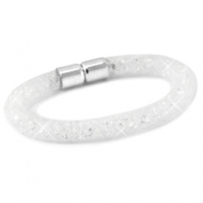 Kristal facet armband White - crystal