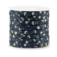 Trendy koord 5mm plat Dark blue