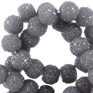 Sparkle beads 6mm Donker grijs