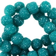 Sparkle beads 6mm Teal green