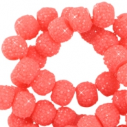 Sparkle beads 8mm Rouge red