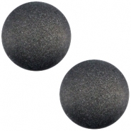 Cabochon polaris soft tone 20mm matt Black
