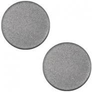 Cabochon polaris soft tone plat 12mm matt Silver black