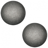 Cabochon polaris soft tone 20mm matt Silver black