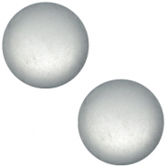 Cabochon polaris soft tone 12mm matt Silver grey