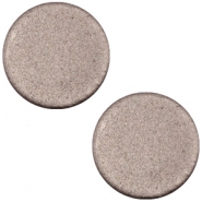 Cabochon polaris soft tone plat 12mm matt Dark chocolate brown