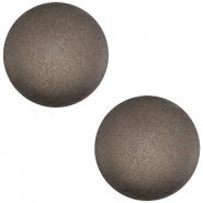 Cabochon polaris soft tone 20mm matt Dark chocolate brown