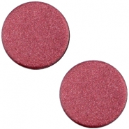 Cabochon polaris soft tone plat 12mm matt Aubergine red