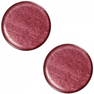 Cabochon polaris soft tone plat 20mm shiny Aubergine red