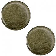 Cabochon polaris soft tone plat 12mm shiny Army green