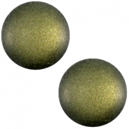 Cabochon polaris soft tone 12mm matt Army green