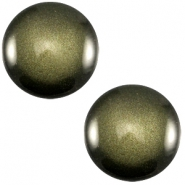 Cabochon polaris soft tone 12mm shiny Army green