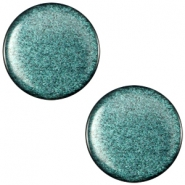 Cabochon polaris soft tone plat 12mm shiny Emerald green