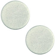 Cabochon polaris soft tone plat 12mm matt Green grey