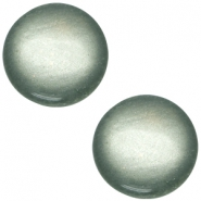 Cabochon polaris soft tone 20mm shiny Green grey