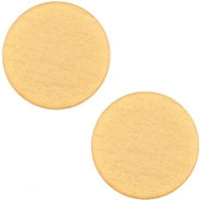 Cabochon polaris soft tone plat 12mm matt Golden yellow