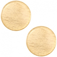 Cabochon polaris soft tone plat 12mm shiny Golden yellow