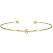Metalen armband diamond Goud