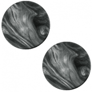 Polaris Cabochon Perseo plat 12mm matt Black - antracite