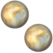 Cabochon Polaris Perseo 12mm matt Grey topaz