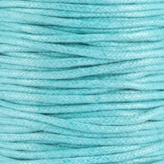 2.0 mm Waxdraad Light aquamarine blue