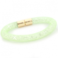 Kristal facet armband Crysolite green - crystal