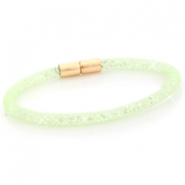 Kristal facet armband single Crysolite green - crystal
