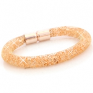Kristal facet armband Goud - peach orange crystal