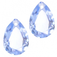 Hangers in druppelvorm 10x14mm Light sapphire blue