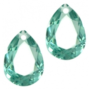 Hangers in druppelvorm 10x14mm Erinite green
