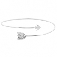Metalen armband Bow & Arrow Zilver