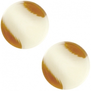 12 mm platte Polaris Elements cabochon Jaquard Light hay beige