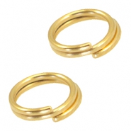 DQ metalen splitring/double ring 7mm Ø5.7mm Goud (nikkelvrij)