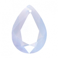 Hangers in druppelvorm SQ facet 13x18mm Air blue opal