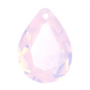 Hangers in druppelvorm SQ facet 13x18mm Rose water opal