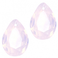 Hangers in druppelvorm SQ facet 10x14mm Rose water opal