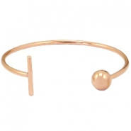 Armband van stainless steel bar&ball Rosegold