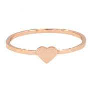 Ring van stainless steel hart 16mm Rosegold