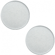 20 mm platte Super Polaris cabochon Ice grey