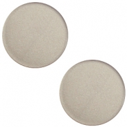 12 mm platte Super Polaris cabochon Dusty grey