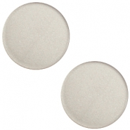 12 mm platte Super Polaris cabochon Silver shade