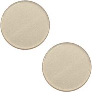 12 mm platte Super Polaris cabochon Light taupe