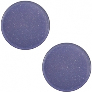 7 mm platte Super Polaris cabochon Midnight blue