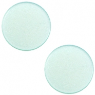 7 mm platte Super Polaris cabochon Light aqua green