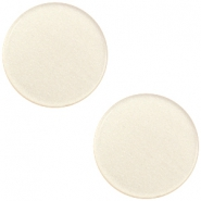 12 mm platte Super Polaris cabochon Silk beige