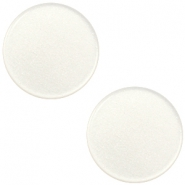 12 mm platte Super Polaris cabochon Antique white