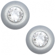 12 mm classic Super Polaris cabochon SS29 Swarovski Ice grey
