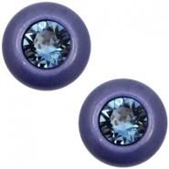 12 mm classic Super Polaris cabochon SS29 Swarovski Midnight blue
