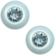 12 mm classic Super Polaris cabochon SS29 Swarovski Haze blue
