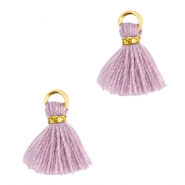 Ibiza style mini kwastje Goud-Antique violet
